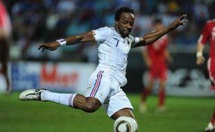 L'ailier de l'équipe de France Sidney Govou, lors d'un match contre la Chine, le 4 juin 2010 à la Réunion.