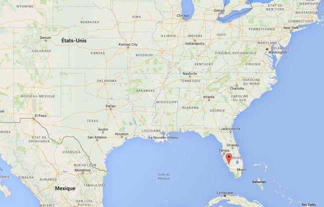 Carte de localisation de Fort Myers (Floride).