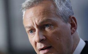 Bruno Le Maire, ministre de l'Economie, le 12 janvier 2018 à Paris.