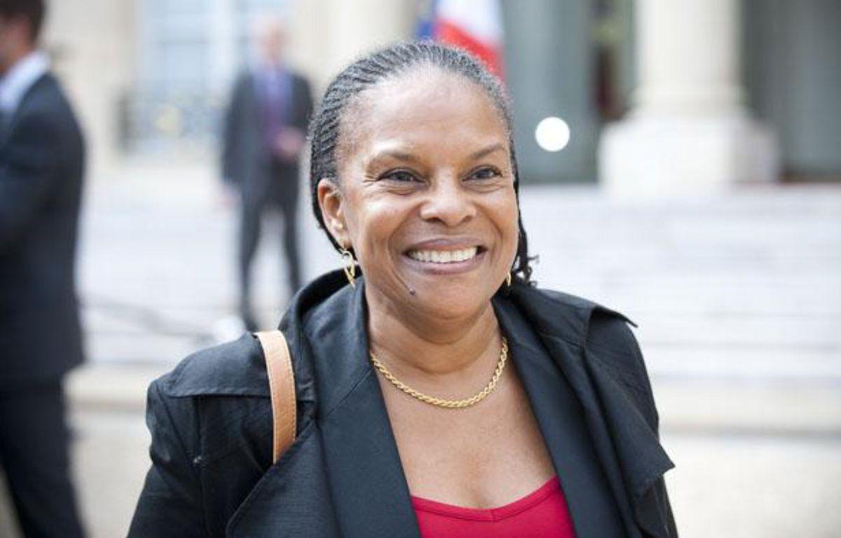 Christiane Taubira à la sortie du conseil des ministres, le 23 mai 2012. – V. WARTNER / 20 MINUTES