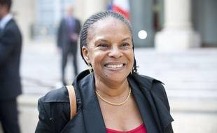 Christiane Taubira à la sortie du conseil des ministres, le 23 mai 2012.