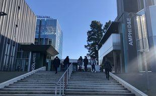 Des étudiants ont fait leur retour sur les bancs de l'université de Nantes, ce lundi 25 janvier 2021