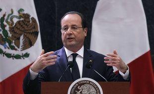 François Hollande, en visite au Mexique le 10 avril 2014.