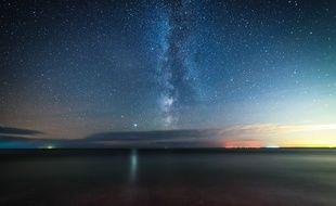 Ciel étoilé au-dessus de la Grande-Bretagne (illustration)