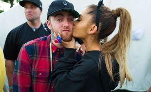Mac Miller et Ariana Grande à Los Angeles en septembre 2016.