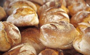 Des pains dans une boulangerie (illustration)