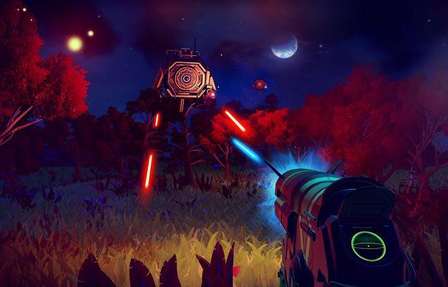 Dans No Man's Sky les combats sont rares. Le jeu fait la part belle à l'exploration.