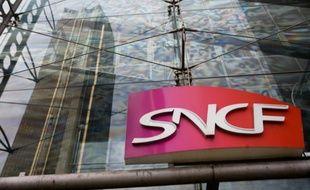 Le logo de la SNCF, le 10 mars 2010