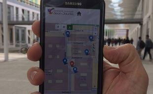L'application UT2J permet de se déplacer par géolocalisation à l'université Jean-Jaurès.