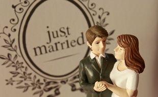 Lille, le 25 novembre 2012. Illustration sur le mariage au salon du mariage et du PACS a Lille Grand Palais