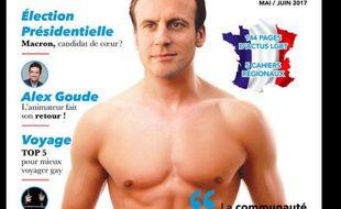 Emmanuel Macron fait la «une» de «Garçon Magazine».