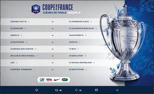 Le tirage au sort du groupe B pour les 32e de finale de Coupe de France.