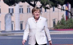 Angela Merkel à Rome en mars 2017.