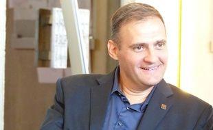Le 23 septembre 2014, à Lyon. Yvan Benedetti est venu ce mardi au tribunal administrati de Lyon devant lequel son élection en mars dernier au conseil municipal de Venissieux, etait contestee.