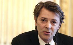 L'ancien ministre de l'Economie et des Finances François Baroin à Paris le 6 avril 2013