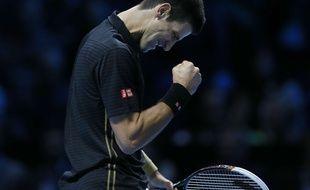 Vainqueur de Thomas Berdych, Novak Djokovic s'est qualifié pour les demi-finales du Masters et s'est assuré de terminer la saison numéro 1 mondial, le 14 novembre 2014 à Londres.