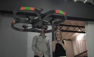 20minutes.fr a testé le drône pilotable à distance par un iPhone.