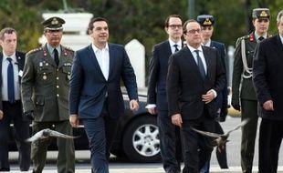Alexis Tsipras et François Hollande le 22 octobre 2015 à Athènes