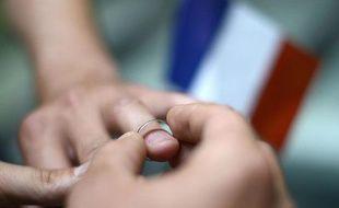 Illustration mariage homosexuel, le 18 septembre 2012 à Paris.