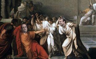 La morte di Cesare. Photomontage assumé.