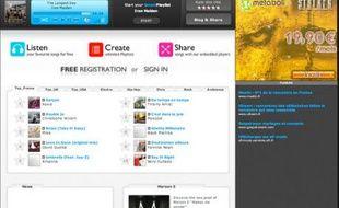 Deezer, site d'écoute de musique en ligne, se veut totalement légal