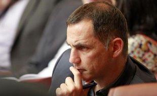 Le maire de Bastia Gilles Simeoni à Ajaccio le 24 avril 2014