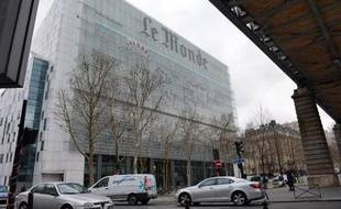 La façade du quotidien Le Monde, le 7 mars 2013 à Paris