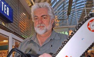 Gunnar Hansen, l'interprète de Leatherface dans «Massacre à la tronçonneuse» en 2004.