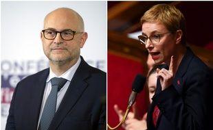 Laurent Pietraszewski, secrétaire d'Etat en charge de la réforme des retraites, et Clémentine Autain, députée La France insoumise.