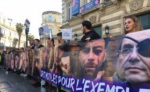 La marche des mutilés à Montpellier