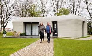 Un couple de Néerlandais emménage dans la 1ère maison imprimée du continent
