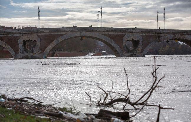 Les inondations à Toulouse le 14 décembre 2019/Credit:FRED SCHEIBER/SIPA/1912141627