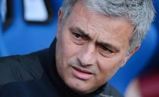 José Mourinho, l'entraîneur de Chelsea, le 29 mars 2014, à Londres.