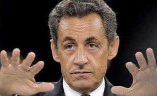 Nicolas Sarkozy lors d'une table ronde sur l'éducation à Plaisir, dans les Yvelines, le 23 juin 2011.