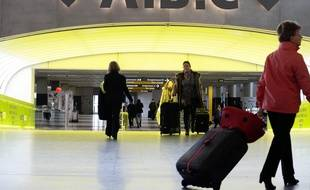 Zone d'embarquement et d'enregistrement des passagers à l'aéroport  Toulouse-Blagnac. 26/012012 Toulouse