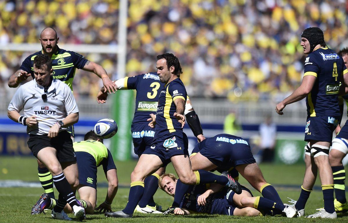 Morgan Parra, lors du match Clermont-Leinster, dimanche 23 avril. – ROMAIN LAFABREGUE / AFP