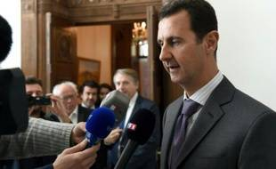 Le président syrien Bashar al-Assad le 14 novembre 2015 à Damas