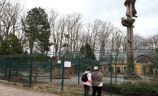 Le zoo de l'Orangerie. Strasbourg le 19 mars 2017.