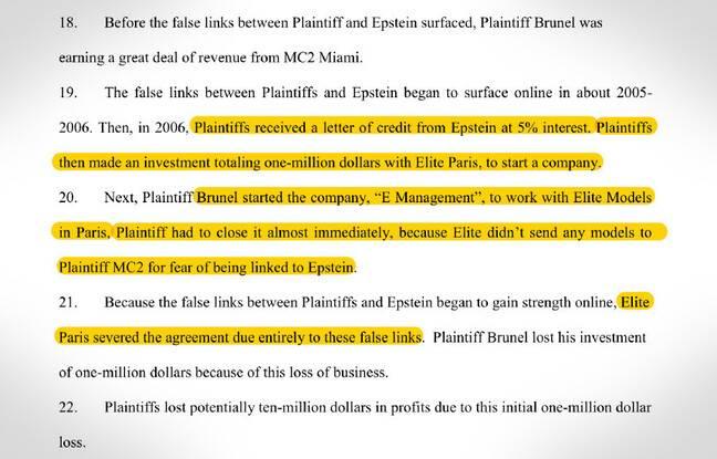 Jean-Luc Brunel a porté plainte contre Jeffrey Epstein en 2015 aux Etats-Unis.