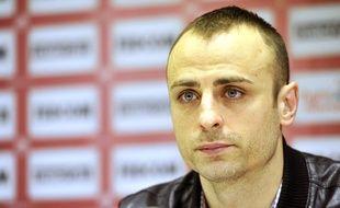 L'attaquant bulgare Dimitar Berbatov lors de sa présentation le 4 février 2014.