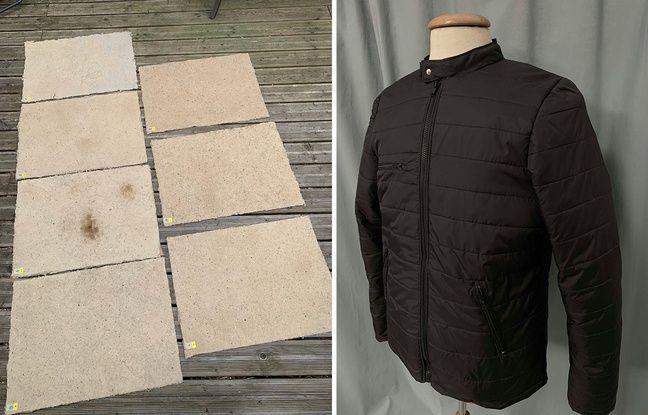 A gauche, la matière obtenue à partir de mégots. A droite, le manteau.