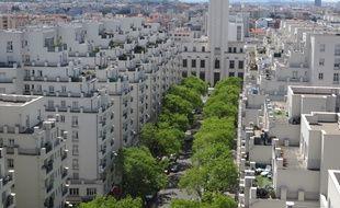 L'actuel Quartier des Gratte-Ciel à Villeurbanne, avant l'extension du projet