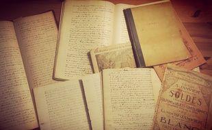 Les manuscrits d'Albert Denisse, racontant la chronique quotidienne d'un village de l'Aisne durant l'occupation entre 1914 et 1918.