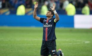 Thiago Silva après PSG-Lille le 23 avril 2016.