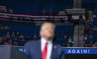 Donald Trump en meeting à Tulsa, dans l'Oklahoma, le 20 juin 2020.