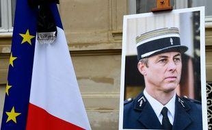 Un hommage national a été rendu au colonel Arnaud Beltrame, le 28 mars 2018.