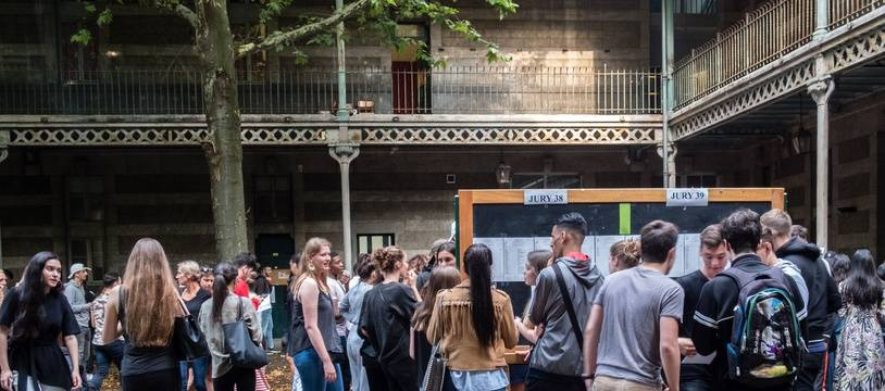 Des élèves du lycée du Parc à Lyon,le 6 juillet 2018.Credit:KONRAD K./SIPA