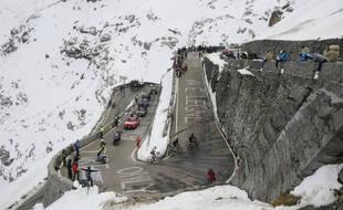 Le col du Stelvio, grimpé par les coureurs lors de la 18e étape du Tour d'Italie, le 22 octobre 2020.