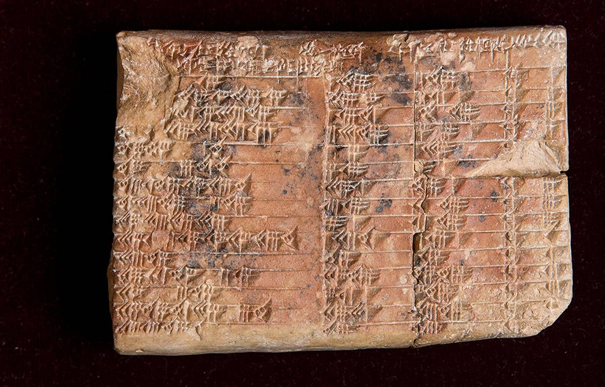 La tablette babylonienne Plimpton 322. – New South Wales University