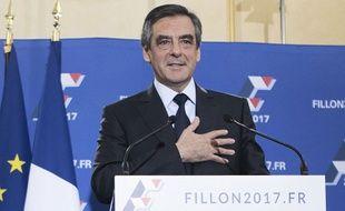 François Fillon, vainqueur de la primaire à droite, le 27 novembre 2016 à Paris.
